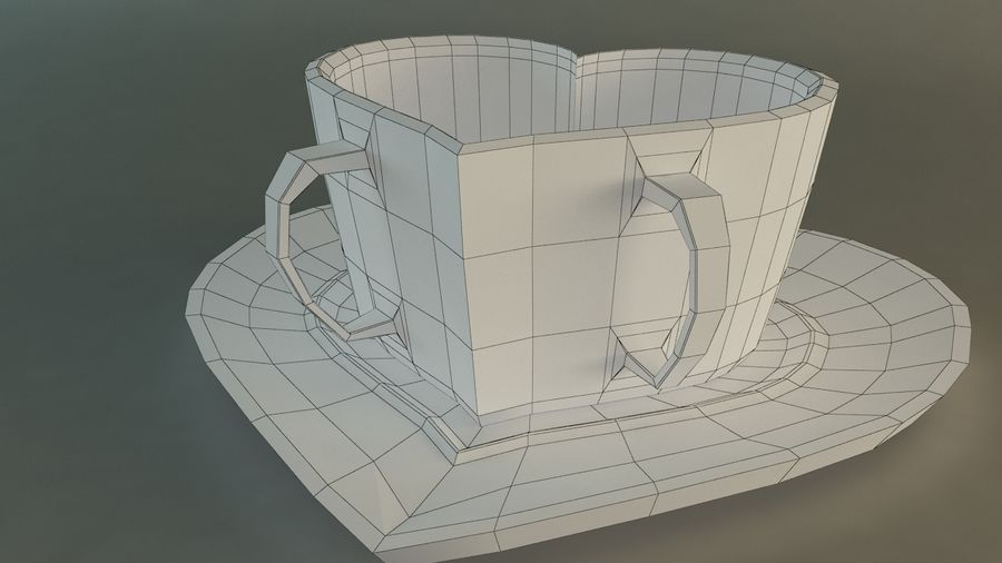 Heart Shaped Coffee Cup royalty-free 3d model - Preview no. 9