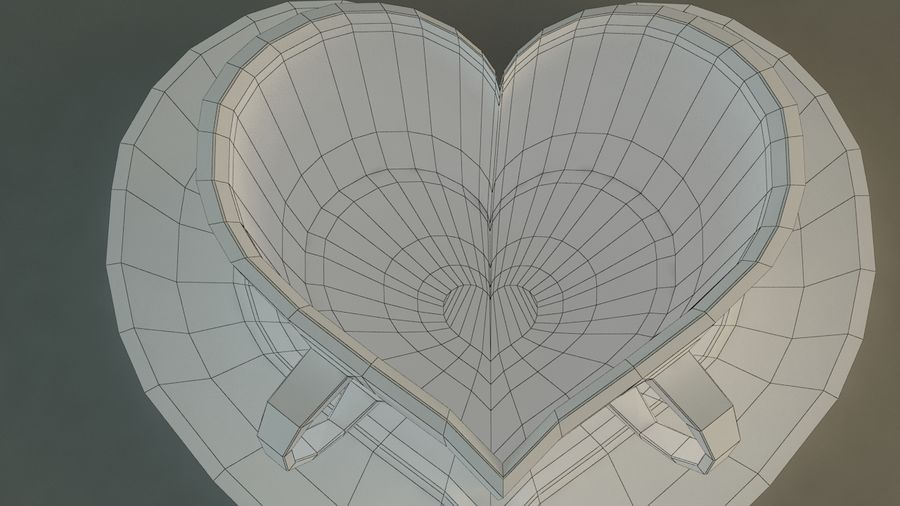 Heart Shaped Coffee Cup royalty-free 3d model - Preview no. 11