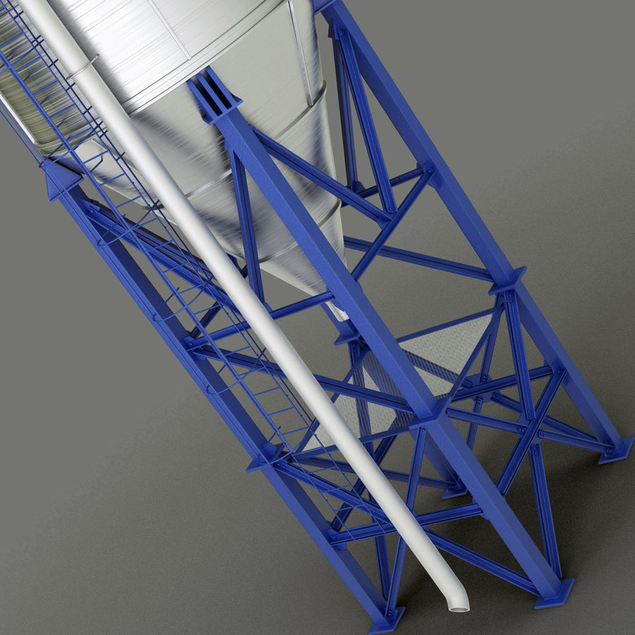 Silos royalty-free 3d model - Preview no. 5