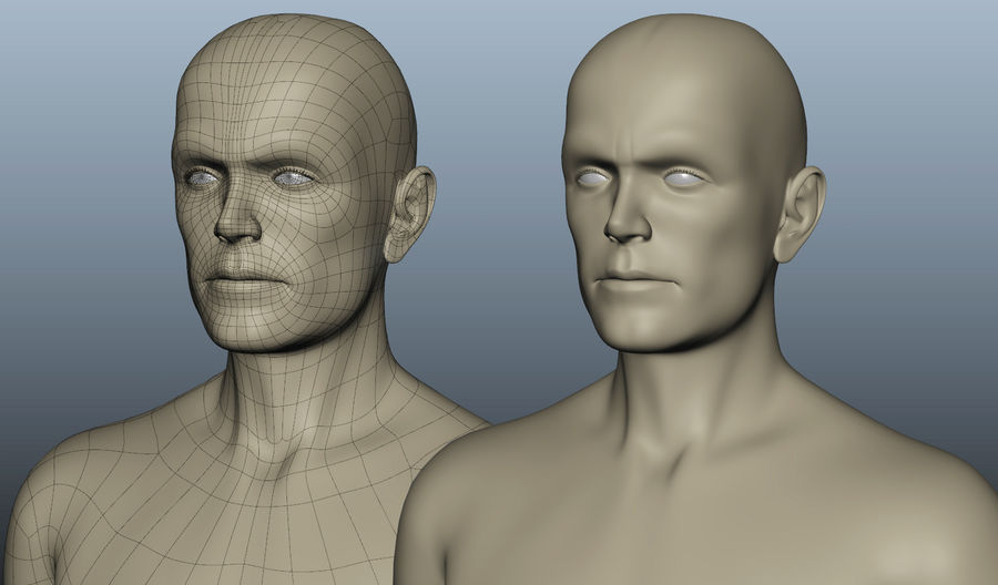 Corps nu masculin royalty-free 3d model - Preview no. 3