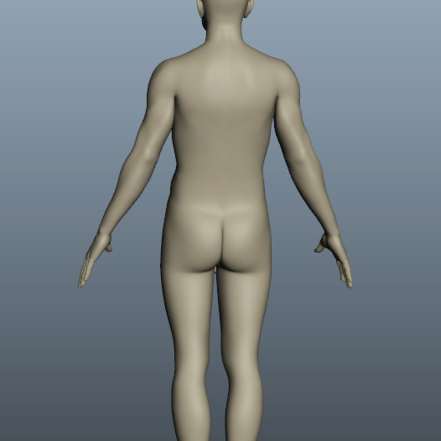 Male Body Nude royalty-free 3d model - Preview no. 6