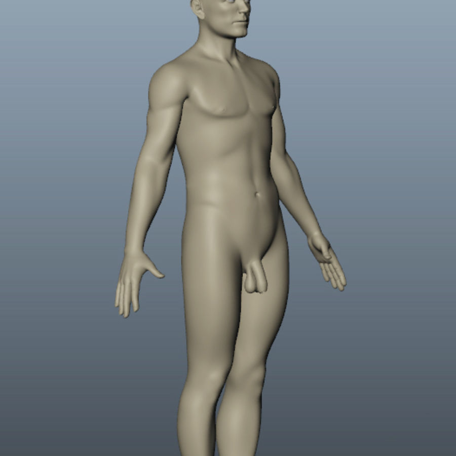 Corps nu masculin royalty-free 3d model - Preview no. 5