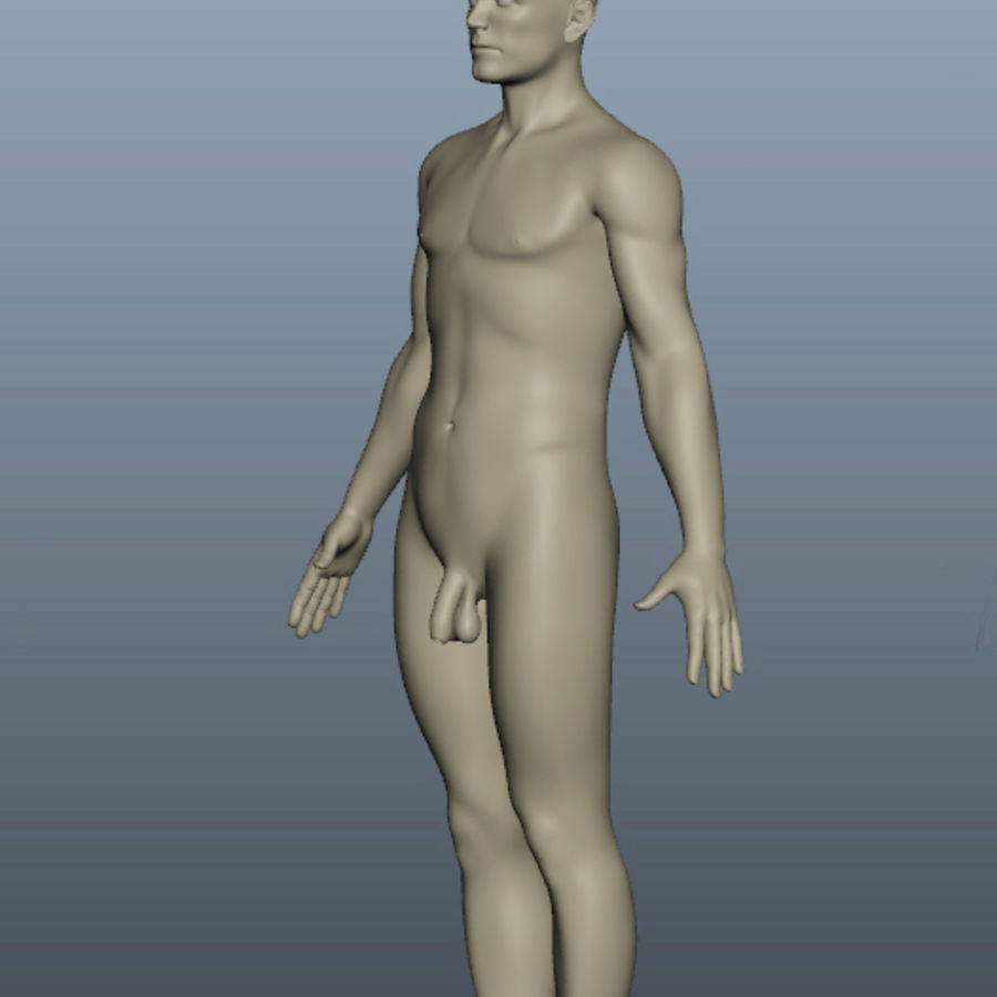 Corps nu masculin royalty-free 3d model - Preview no. 7