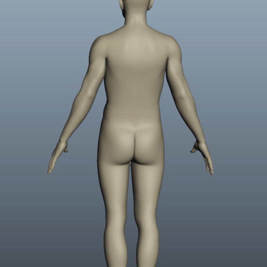 Corps nu masculin royalty-free 3d model - Preview no. 6
