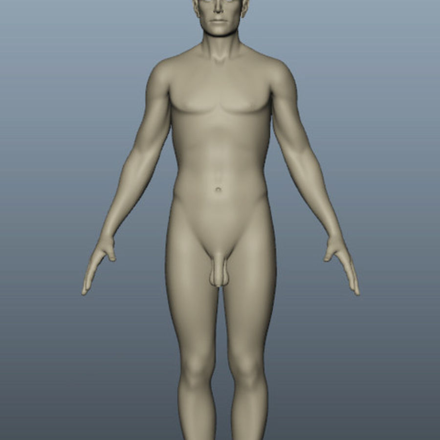 Corps nu masculin royalty-free 3d model - Preview no. 4