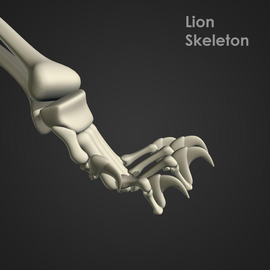 Lion Skeleton (RIG) royalty-free 3d model - Preview no. 8