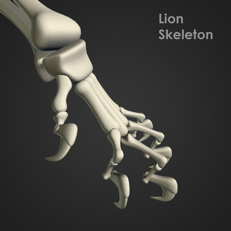 Lion Skeleton (RIG) royalty-free 3d model - Preview no. 11