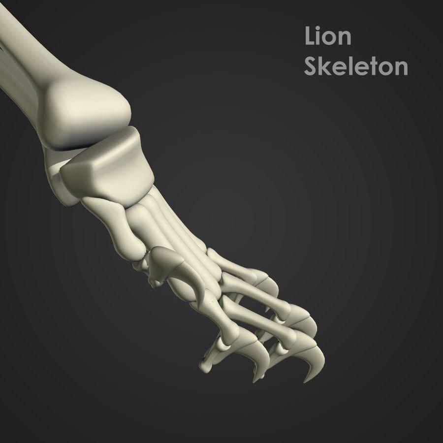Lion Skeleton (RIG) royalty-free 3d model - Preview no. 9