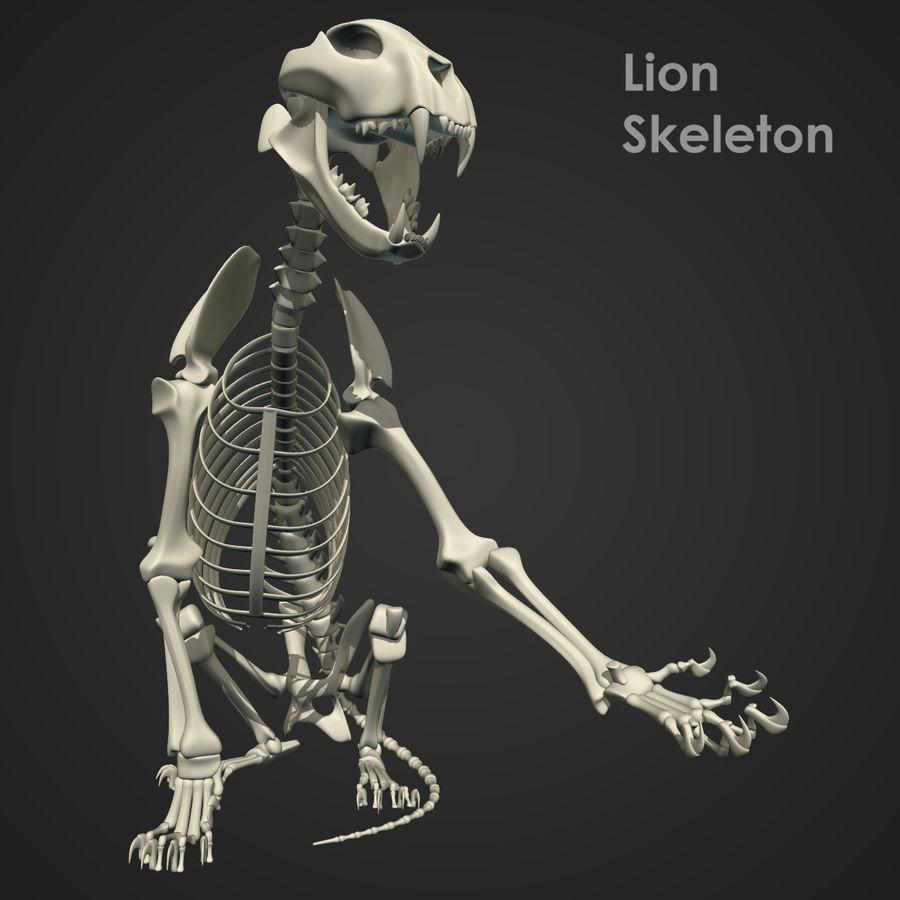 Lion Skeleton (RIG) royalty-free 3d model - Preview no. 12