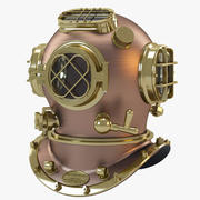 US Navy Diving Helmet_01 3d model