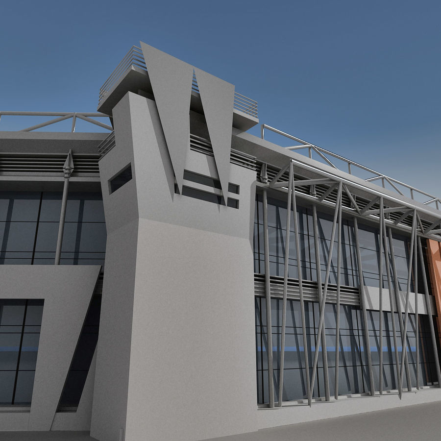 Modern Building 009 royalty-free 3d model - Preview no. 6