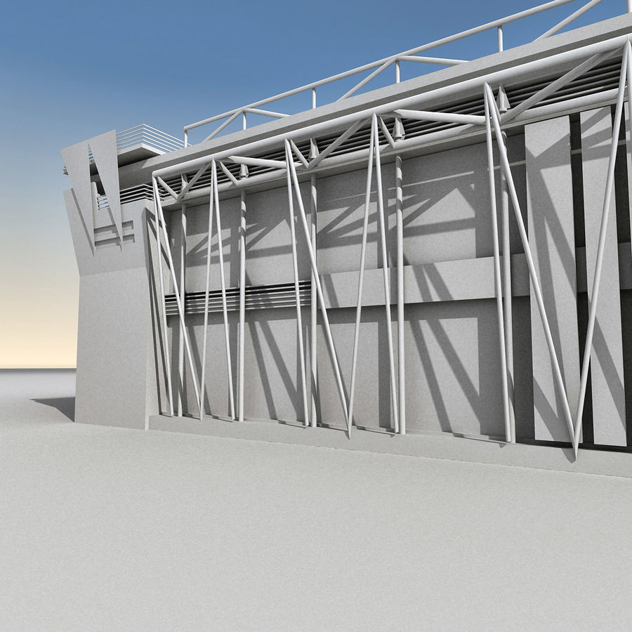 Modern Building 009 royalty-free 3d model - Preview no. 17