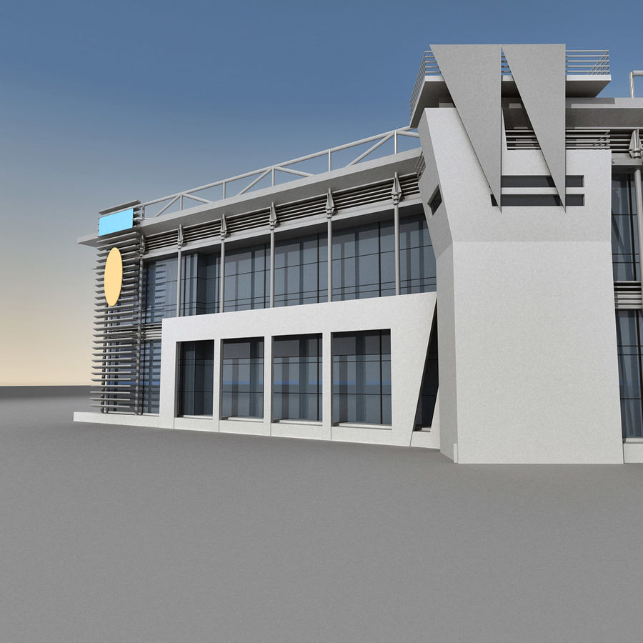 Modern Building 009 royalty-free 3d model - Preview no. 10