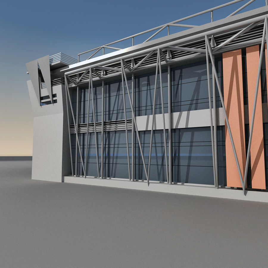 Modern Building 009 royalty-free 3d model - Preview no. 4