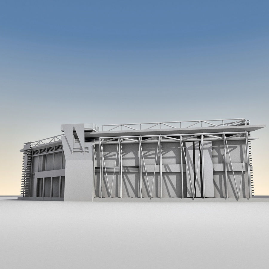 Modern Building 009 royalty-free 3d model - Preview no. 15