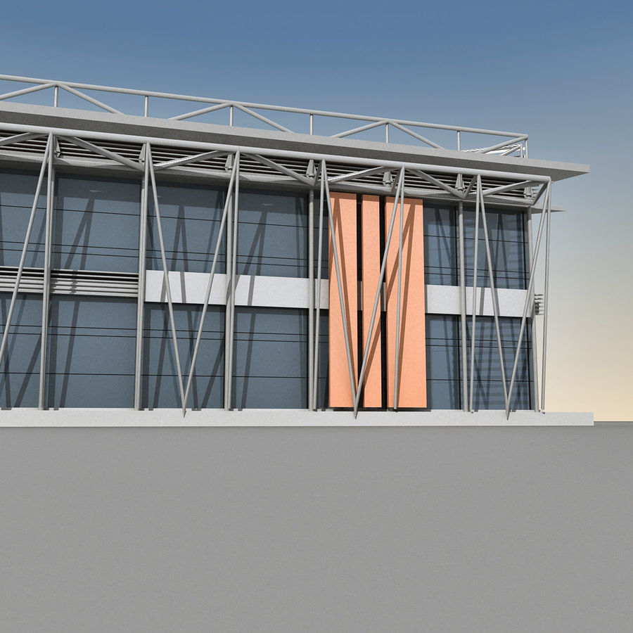 Modern Building 009 royalty-free 3d model - Preview no. 9
