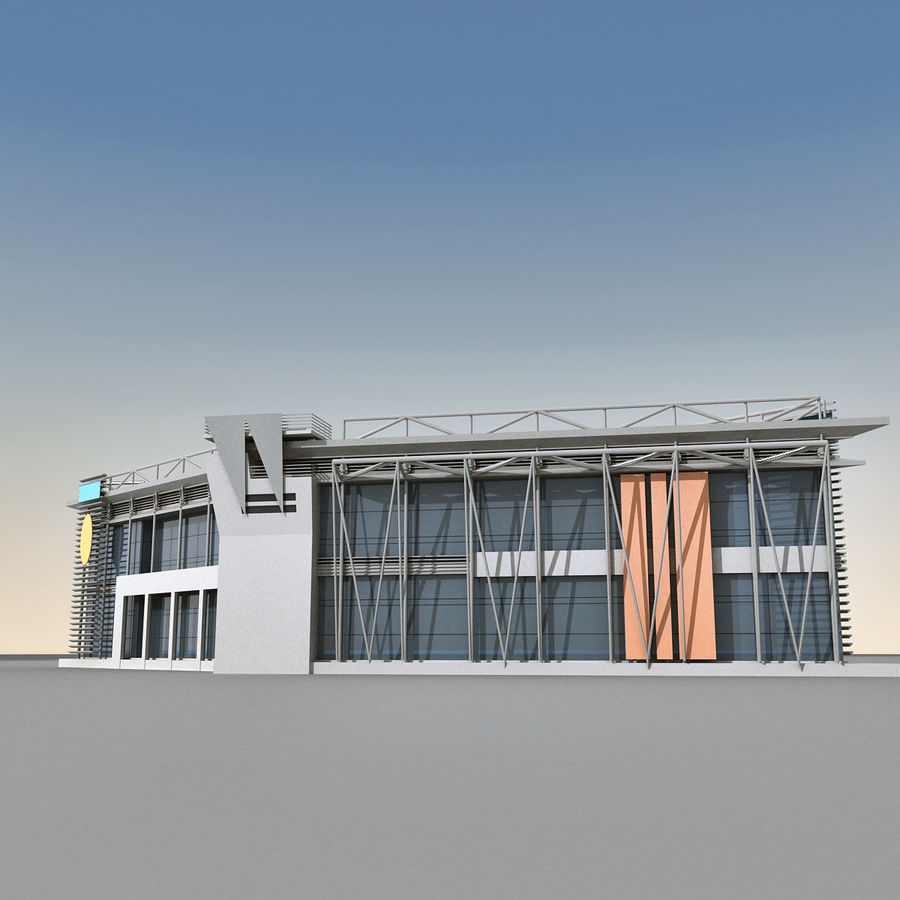 Modern Building 009 royalty-free 3d model - Preview no. 2