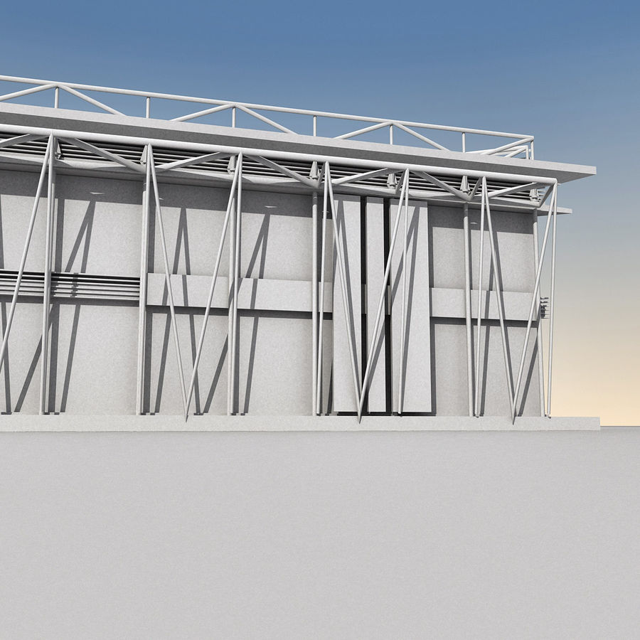 Modern Building 009 royalty-free 3d model - Preview no. 18