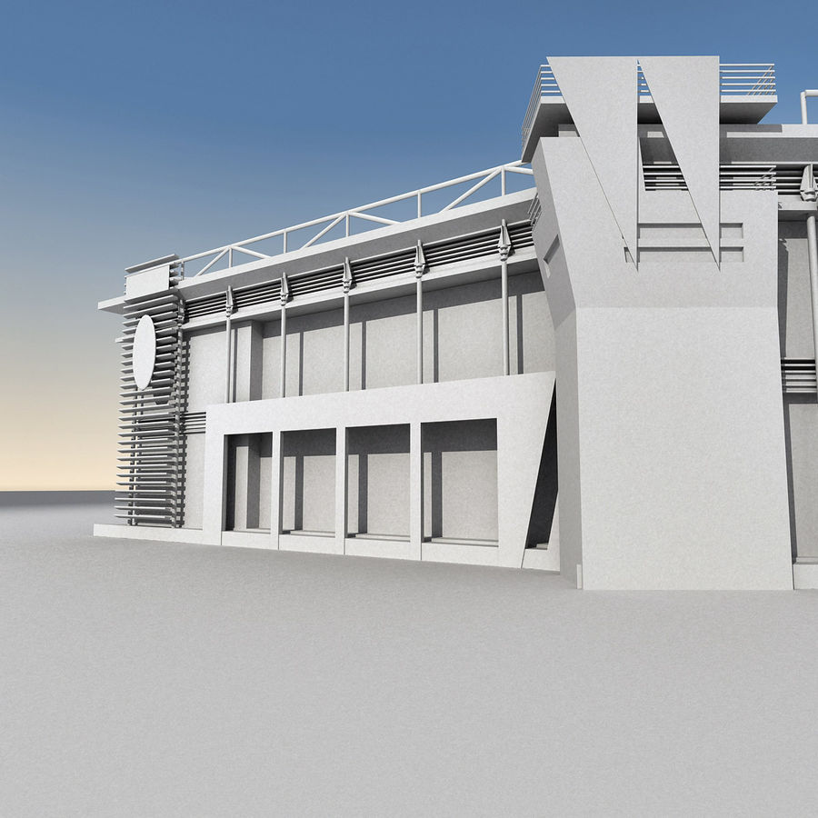 Modern Building 009 royalty-free 3d model - Preview no. 14