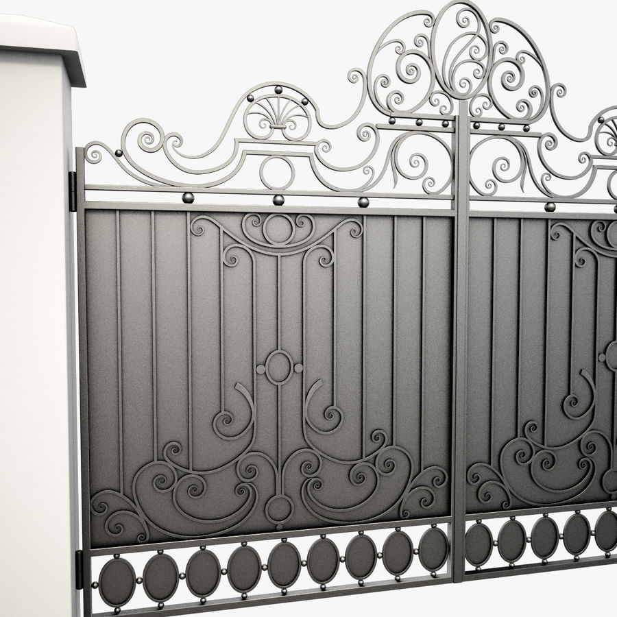 Wrought Iron Gate 26 royalty-free 3d model - Preview no. 10