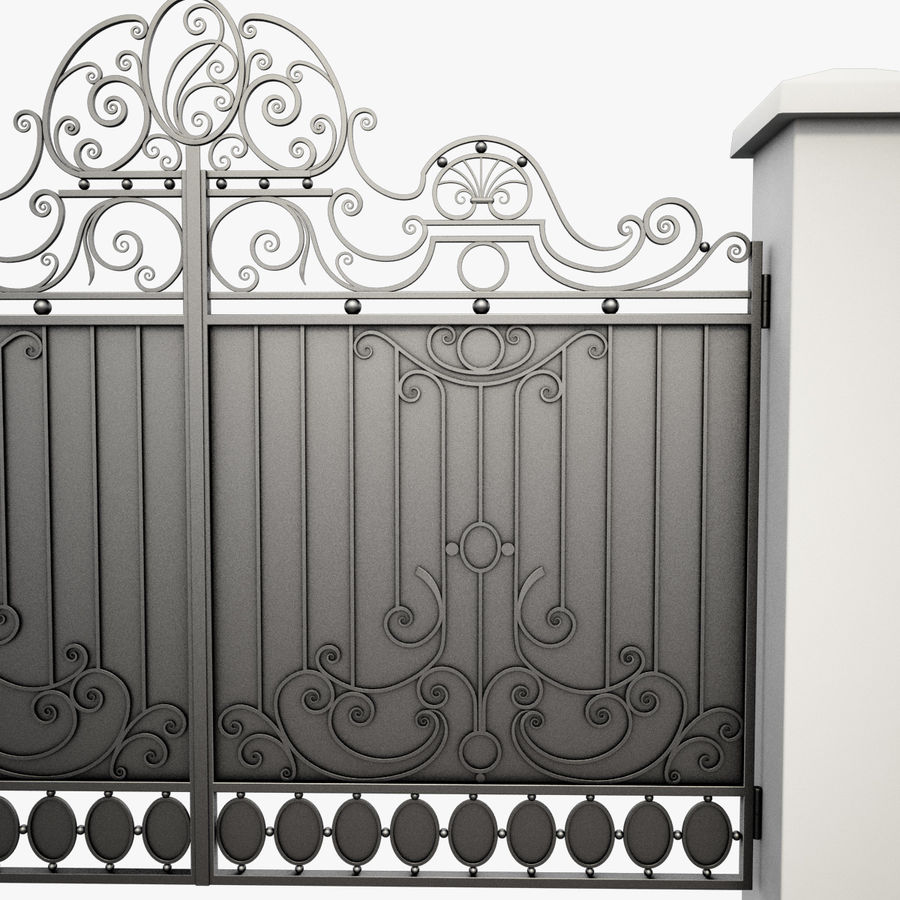 Wrought Iron Gate 26 royalty-free 3d model - Preview no. 9