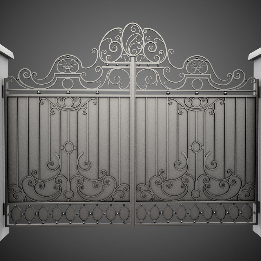 Wrought Iron Gate 26 royalty-free 3d model - Preview no. 2