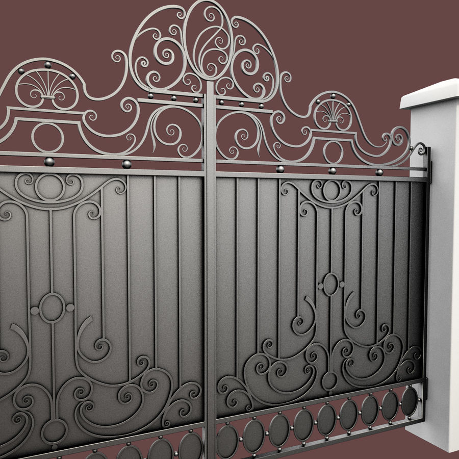 Wrought Iron Gate 26 royalty-free 3d model - Preview no. 12