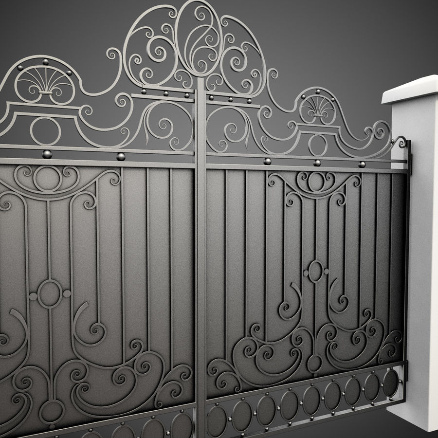 Wrought Iron Gate 26 royalty-free 3d model - Preview no. 6