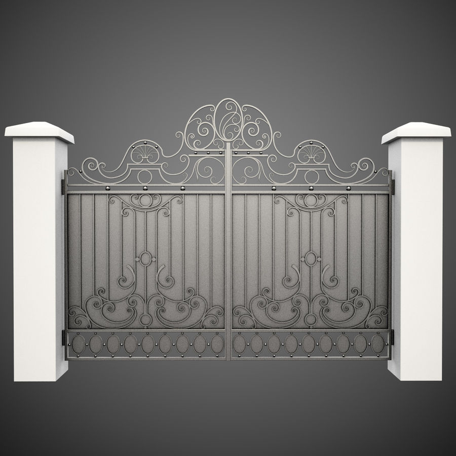 Wrought Iron Gate 26 royalty-free 3d model - Preview no. 1