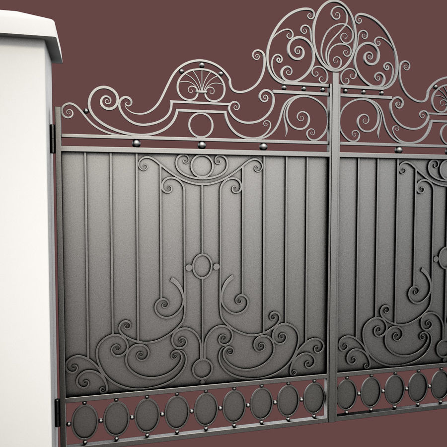 Wrought Iron Gate 26 royalty-free 3d model - Preview no. 14
