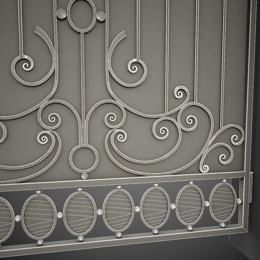 Wrought Iron Gate 26 royalty-free 3d model - Preview no. 15