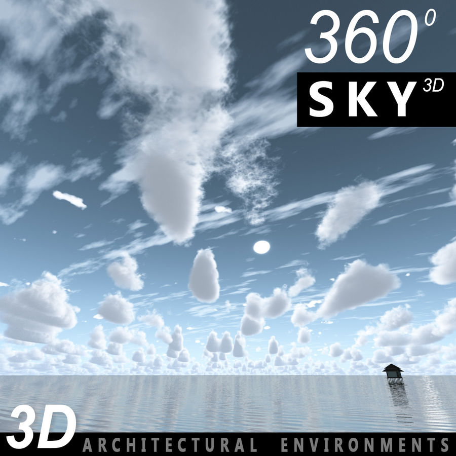Sky 3D Day 087 royalty-free 3d model - Preview no. 2