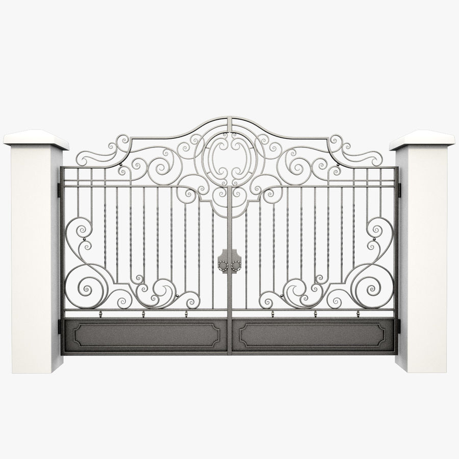 Wrought Iron Gate 22 royalty-free 3d model - Preview no. 4