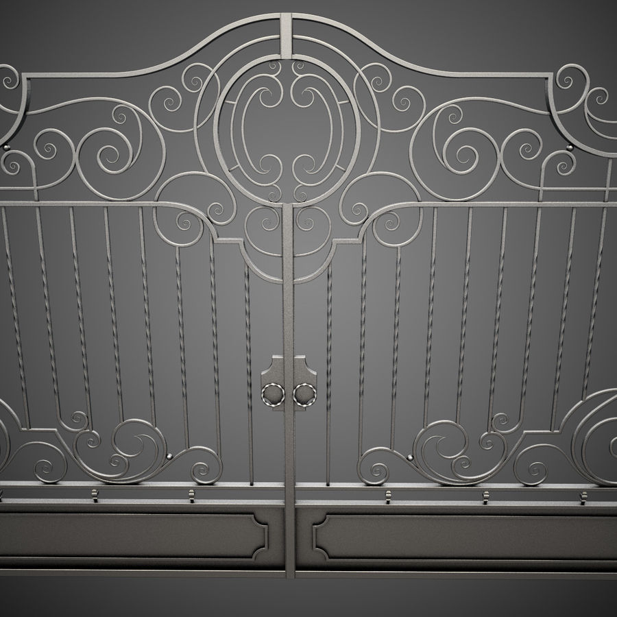 Wrought Iron Gate 22 royalty-free 3d model - Preview no. 12