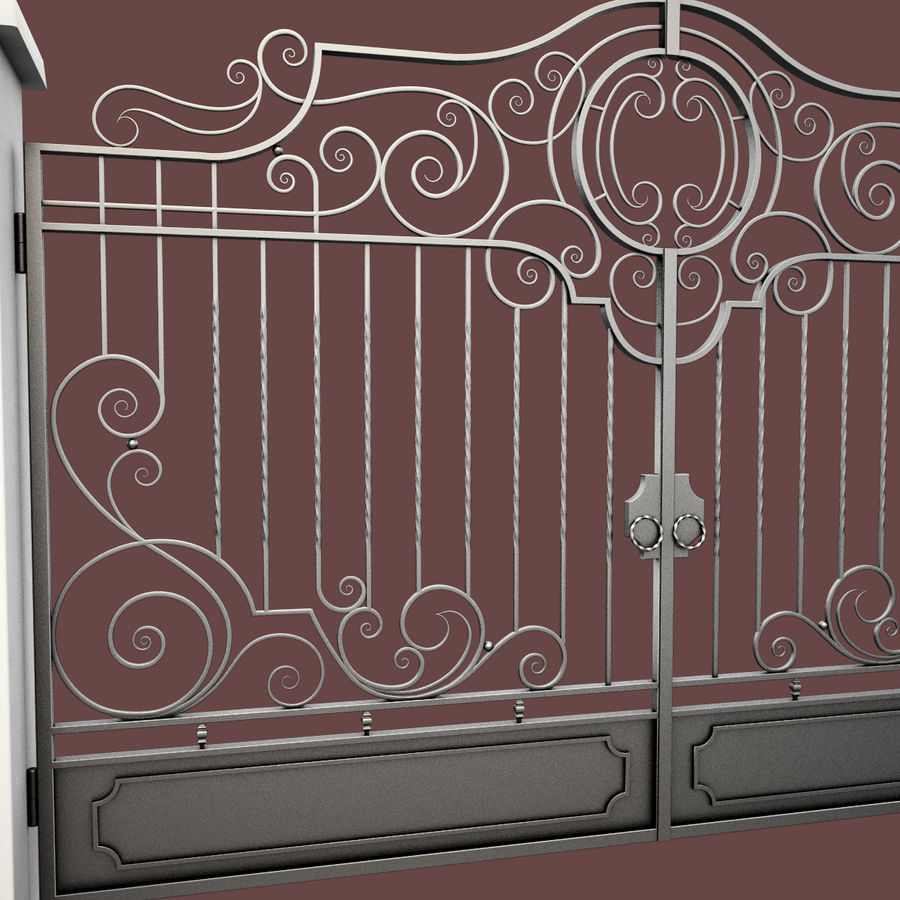 Wrought Iron Gate 22 royalty-free 3d model - Preview no. 8