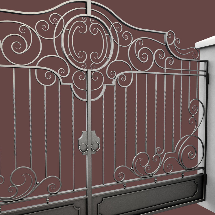 Wrought Iron Gate 22 royalty-free 3d model - Preview no. 6