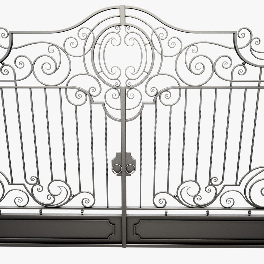 Wrought Iron Gate 22 royalty-free 3d model - Preview no. 14