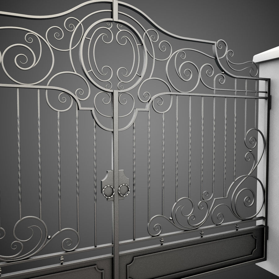 Wrought Iron Gate 22 royalty-free 3d model - Preview no. 9