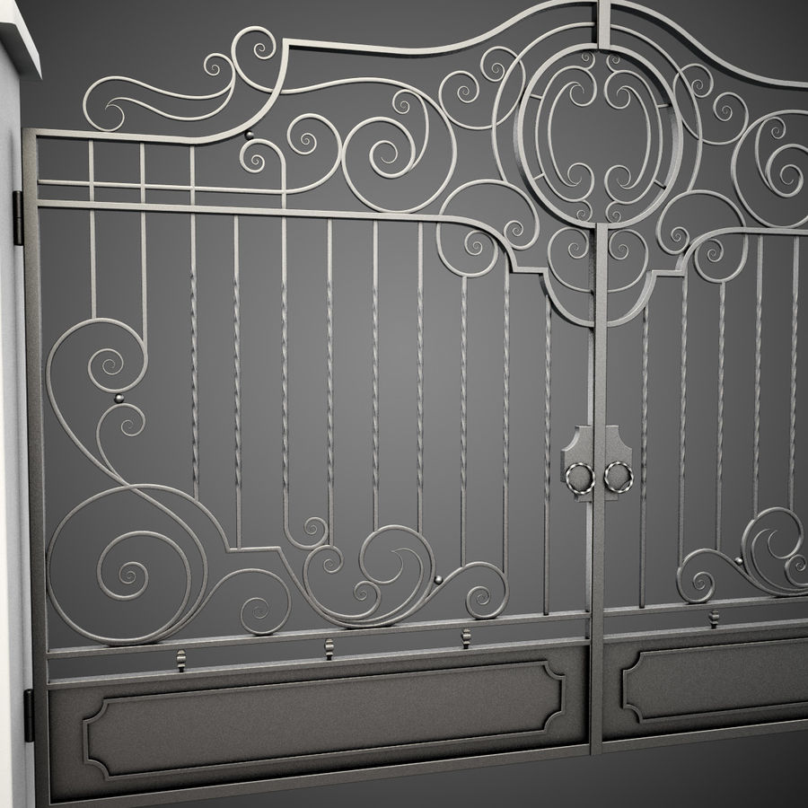 Wrought Iron Gate 22 royalty-free 3d model - Preview no. 13