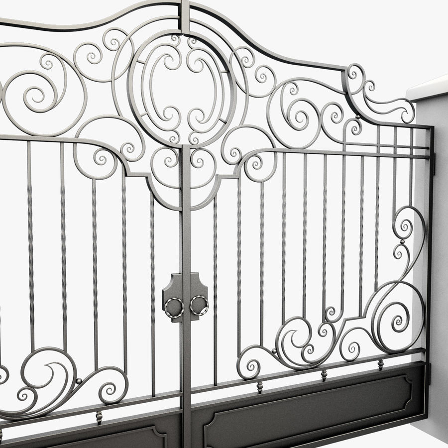 Wrought Iron Gate 22 royalty-free 3d model - Preview no. 11