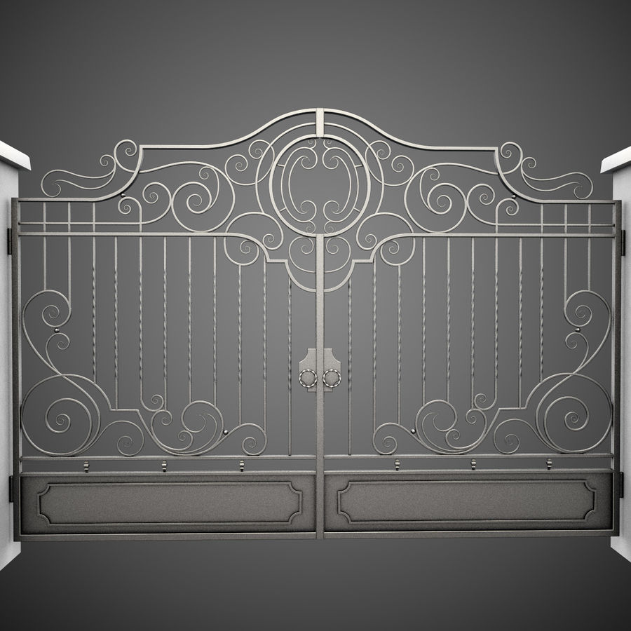 Wrought Iron Gate 22 royalty-free 3d model - Preview no. 5