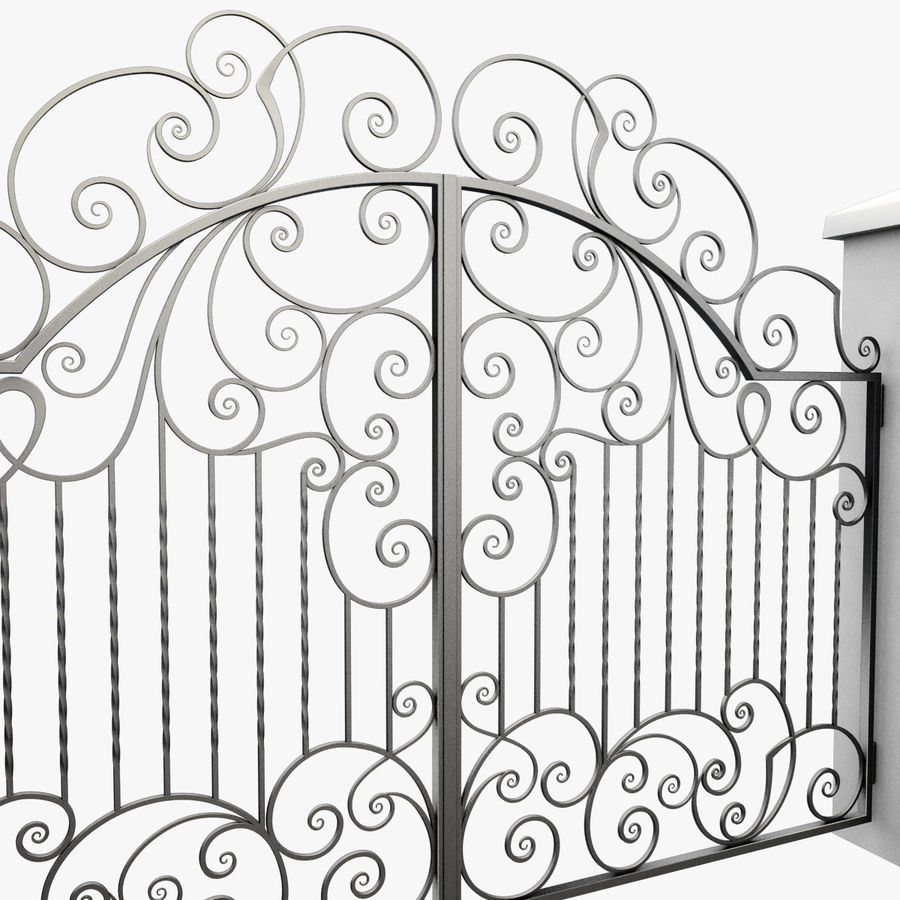 Wrought Iron Gate 30 royalty-free 3d model - Preview no. 9