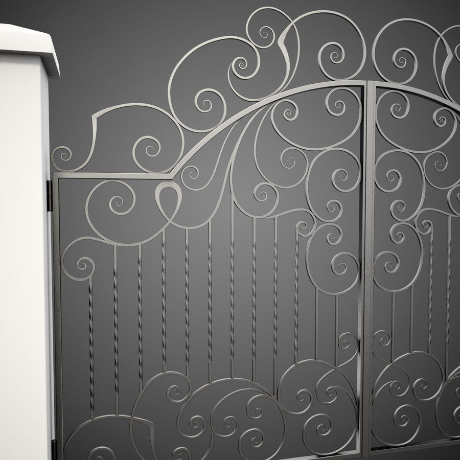 Wrought Iron Gate 30 royalty-free 3d model - Preview no. 11