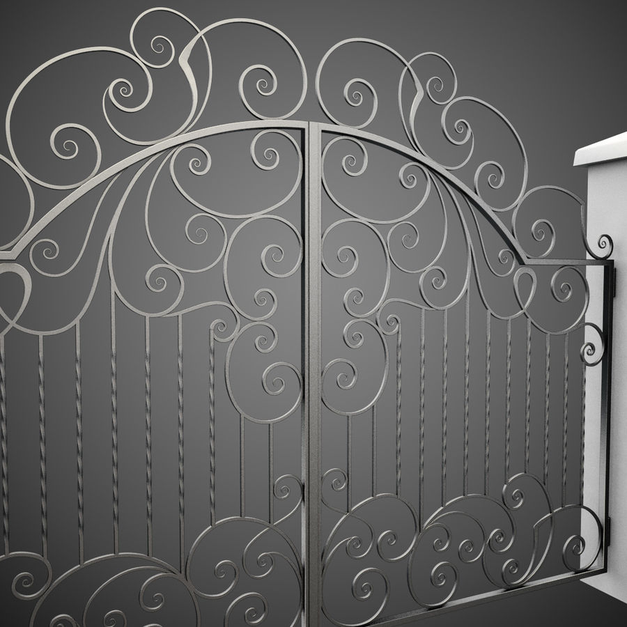 Wrought Iron Gate 30 royalty-free 3d model - Preview no. 7