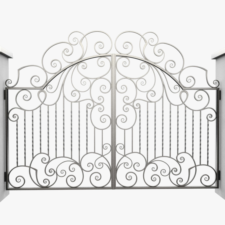 Wrought Iron Gate 30 royalty-free 3d model - Preview no. 6