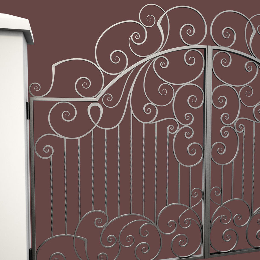 Wrought Iron Gate 30 royalty-free 3d model - Preview no. 15