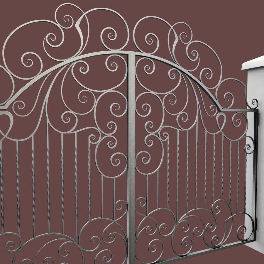Wrought Iron Gate 30 royalty-free 3d model - Preview no. 13