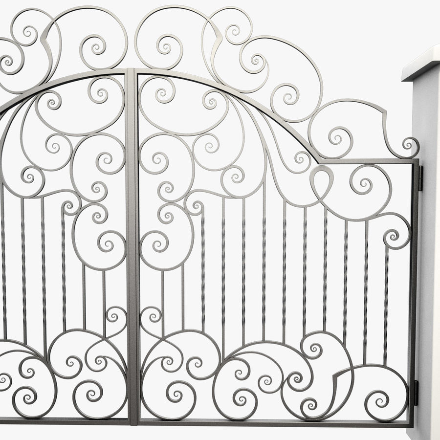 Wrought Iron Gate 30 royalty-free 3d model - Preview no. 10
