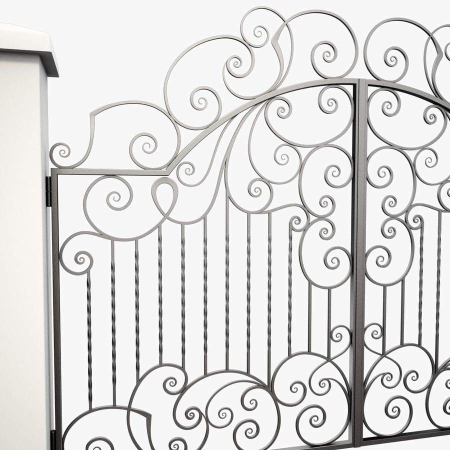 Wrought Iron Gate 30 royalty-free 3d model - Preview no. 12