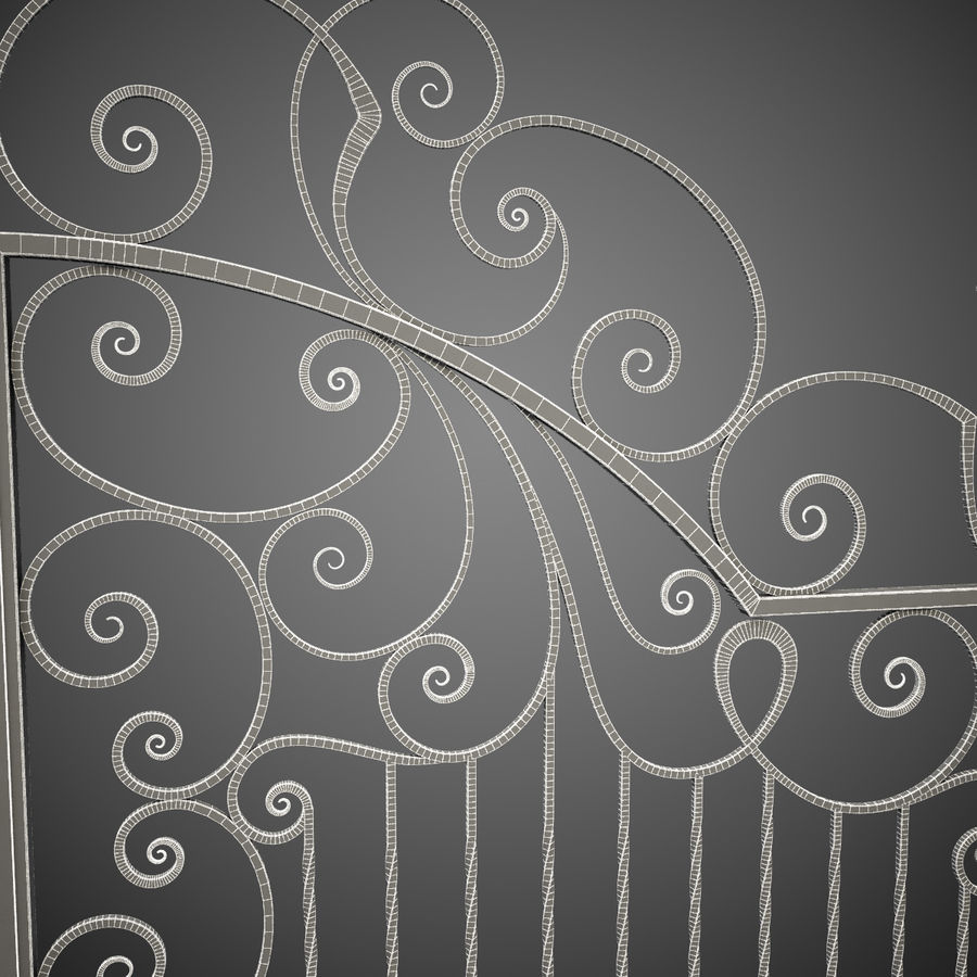 Wrought Iron Gate 30 royalty-free 3d model - Preview no. 2